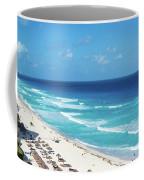 Pristine Beach In Cancun Coffee Mug