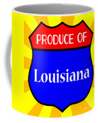Produce Of Louisiana Shield Coffee Mug