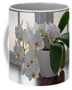 Profusion Of White Orchid Flowers Coffee Mug