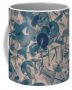Projected Abstract Blue Thumbtacks Background Coffee Mug