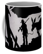 Prospector And Mule  In Metal Tombstone Arizona 2004-2014 Coffee Mug