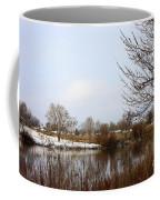 Prosser Winter - Brown And Burgundy Coffee Mug