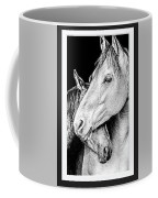 Protection In Black And White Coffee Mug