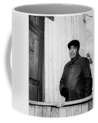 Proud Handsome Man And House Door Coffee Mug