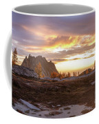 Prusik Peak Golden Cloudscape Coffee Mug