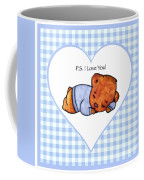 Ps I Love You - Boy Bear Coffee Mug