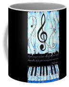 Psalm 40/3 Blue Coffee Mug