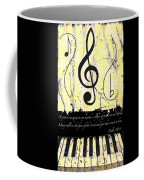 Psalm 40/3 Yellow Coffee Mug