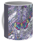 Psychedelic Butterfly Coffee Mug