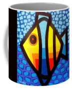 Psychedelic Fish Coffee Mug by John  Nolan