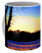 Psychedelic Sunrise On The Delaware River Coffee Mug