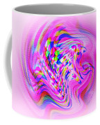 Psychedelic Swirls On Lollypop Pink Coffee Mug