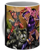 Psylocke And Deadpool Coffee Mug