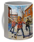 Puck Control Hockey Kids Created By Prankearts Coffee Mug