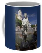 Puerto Rican Fountain In A Plaza Scene Coffee Mug
