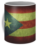 Puerto Rico Distressed Flag Dehner Coffee Mug