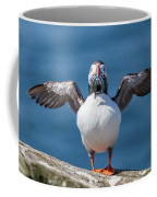 Puffin With Fish For Tea Coffee Mug