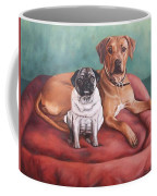 Pug And Rhodesian Ridgeback Coffee Mug
