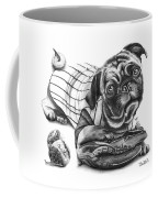 Pug Ruth  Coffee Mug by Peter Piatt