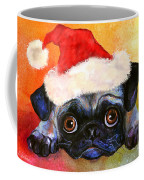 Pug Santa Portrait Coffee Mug