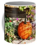 Pumpkin And Flowers Coffee Mug