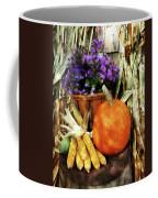 Pumpkin Corn And Asters Coffee Mug