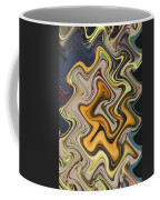 Pumpkin On Fence Abstract # 6822 Wwt Coffee Mug