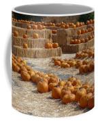 Pumpkins On Bales Coffee Mug