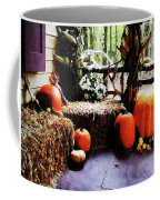 Pumpkins On Porch Coffee Mug