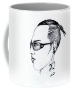 Punk Imaginative Portrait Drawing  Coffee Mug