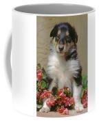 Pup In The Flowers Coffee Mug