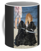 Puppies On The Beach Coffee Mug