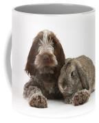 Puppy And Rabbt Coffee Mug by Mark Taylor