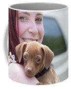 Puppy And Smiles Coffee Mug