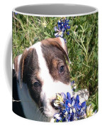 Puppy In The Blubonnets Coffee Mug