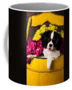Puppy In Yellow Bucket  Coffee Mug by Garry Gay