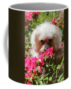 Puppy With Roses Coffee Mug