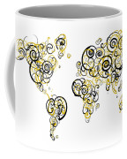 Purdue University Colors Swirl Map Of The World Atlas Coffee Mug