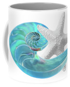 Pure Joy - Starfish With Nautilus Shell Coffee Mug