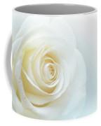 Pure White Rose Coffee Mug