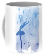 Purple Ballerina Silhouette Coffee Mug