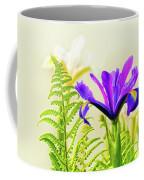 Purple And Blue Iris Coffee Mug