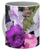 Purple And Pink Petunias Oil Painting Coffee Mug