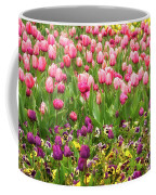 Purple And Pink Tulips In Canberra In Spring Coffee Mug