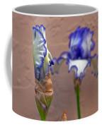 Purple And White Bearded Iris Bud Coffee Mug
