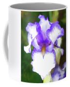 Purple And White Iris Coffee Mug