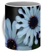 Purple And White Coffee Mug