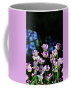 Purple And White Tulips - Photopainting Coffee Mug