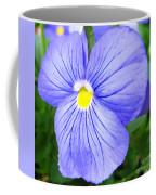 Purple Blue Pansey Coffee Mug