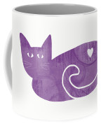 Purple Cat- Art By Linda Woods Coffee Mug